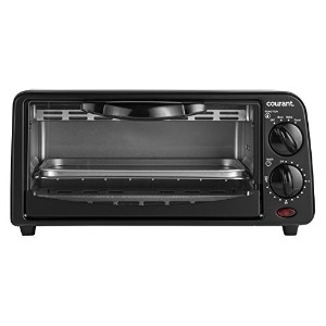 Courant TO-621K 2 Slice Compact Toaster Oven with Bake Tray and Toast Rack, Black [並行輸入品]