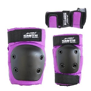 Smith Safety Gear Scabs Knee/Elbow/Wrist Guard Set (Pack of 3), Purple [並行輸入品]