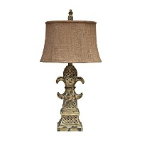 Crestview Collection Avalon Carved Wood Floor Lamp, Brown by Crestview Collection
