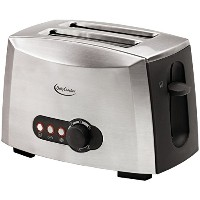 Betty Crocker BC-1618C 2-Slice Toaster, Brushed Stainless Steel [並行輸入品]