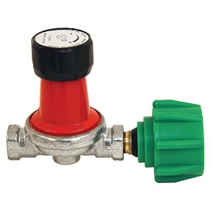 Bayou Classic 7850 0-30 PSI Adjustable High-Pressure Propane Regulator for 1/4-Inch Inlets and...