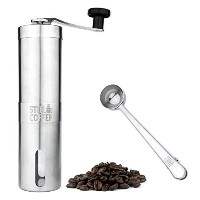 Manual Coffee Grinder - Professional Heavy Duty Stainless Steel with Adjustable Ceramic Burr -...