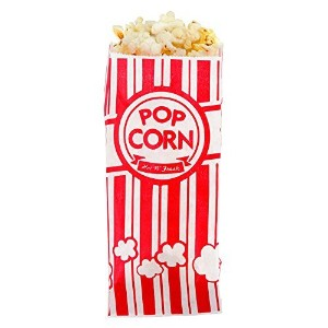Carnival King Paper Popcorn Bags 1 Ounce Pack of 110 Red and White [並行輸入品]