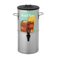 Bloomfield 8802-5G Iced Tea Dispenser with Handles, 5-Gallon, Stainless Steel, 10 3/8' Depth, 22 3...