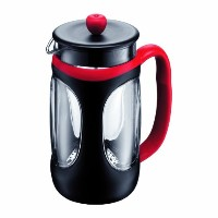 Bodum Young Press Shock Resistant French Press Coffee Maker, 1.0-Liter, 34-Ounce, Red/Black [並行輸入品]