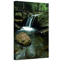 ArtWall Kathy Yates 'Waterfall in The Woods' Gallery Wrapped Canvas Artwork, 12 by 18-Inch [並行輸入品]