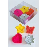 R & M Stampers Cookie Cutters 4 Pcs Set, Heart, Star, Butterfly, and Flower. [並行輸入品]