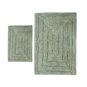 Castle Hill CH-BR-20X30&24X40-RTRAK-2PCS-LSAG 2-Piece Bath Rug Sets, 20 by 30-Inch/24 by 40-Inch,...