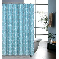 Regal Home Collections Printed Geo Lattice Shower Curtain, 70 by 72-Inch, Blue [並行輸入品]