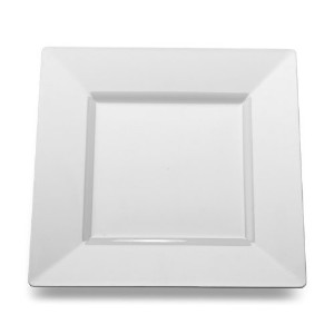 Square White Plastic Dinner Plates by Yoshi 10-3/4-inch 10 per Pack [並行輸入品]