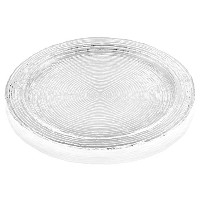 IVV Glassware Wave 12-1/2-Inch Cake Plate with Rim, Clear [並行輸入品]