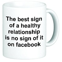 Rikki Knight Healthy Relationship Facebook Funny Ceramic Coffee Mug Cup, 11-Ounce, White [並行輸入品]
