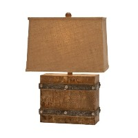 Urban Designs Handcrafted Antiqued Weathered Wooden Table Lamp, 23 by Urban Designs