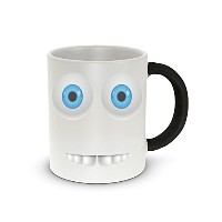 Rikki Knight ' Funny Expressions Blue Colored Eyes' Design Heat Sensitive Color Change Photo...