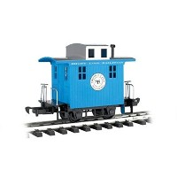 Bachmann Industries Li'L Big Haulers Caboose G-Scale Short Line Railroad with Blue/Silver Roof,...