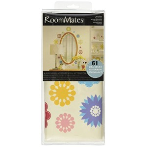 RoomMates RMK1170SCS Graphic Flowers Peel & Stick Wall Decals, 61 Count [並行輸入品]