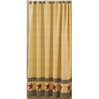 Park Designs Country Star Shower Curtain, 72 by 72' [並行輸入品]