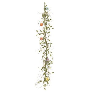 Your Hearts Delight Spring Berries and Resin Flowers Garland, 54 x 2 x 5' [並行輸入品]