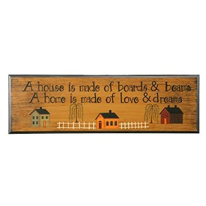 Your Hearts Delight 'A House is Made of Boards and Beams, a Home is Made of Love and Dreams' Door...