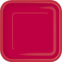 Square Dinner Plates, 8.875', Red, 14ct [並行輸入品]