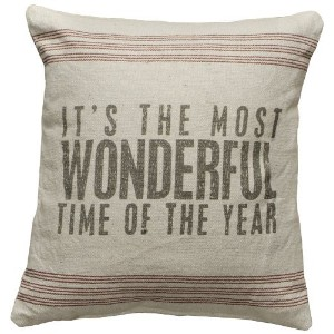 Primitive Style Its the Most Wonderful Time of the Year Throw Accent Pillow by Primitives By Kathy ...