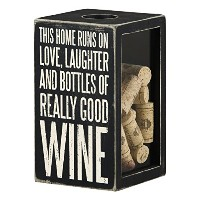 Primitives by Kathy This Home Runs on .. Good Wine Cork & Cap Holder, Black, Large by Primitives By...