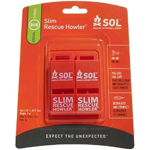 Adventure Medical Kits Sol Slim Rescue Howler Whistle, 2 Count by Adventure Medical Kits [並行輸入品]