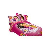 Dora and FriendsツインComforter and Sheetセット
