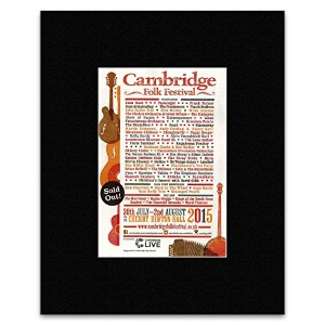 CAMBRIDGE FOLK FESTIVAL - 30th July- 2nd August 2015 Mini Poster - 28x21cm