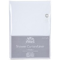 Ex-Cell Eco Soft Shower Curtain Liner, White [並行輸入品]