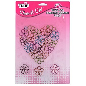 Tulip Express Yourself Iron-On Fashion Design Pack-Flower Heart Pack [並行輸入品]
