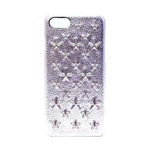 enchanted.LA STAR STUDDED LEATHER COVER CASE #BRILLIANT STARS [Silver] エンチャンテッドエルエースタースタッズレザーケース シルバー iPhone8Plus / iPhone7Plus (iPhone8Plus / iPhone7Plus, シルバー)