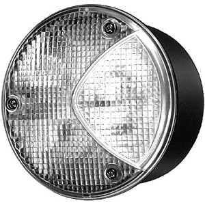HELLA H24169011 4169 Series 100 Watt 12-36 V Heavy Duty Red Stop/Tail Lamp with Reflex Reflector ...