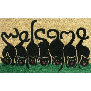 High Quality 120391729 Cats Welcome Doormat, 17 x 29 x 0.60, Multicolor