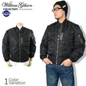 "Buzz Rickson's(バズリクソンズ) ""WILLIAM GIBSON COLLECTION"" TYPE BLACK MA-1 DOWN FILLED フライトジャケット ダウン..."