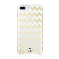 kate spade new york Protective Hardshell Case for iPhone 7 Plus - Chevron Gold Foil [並行輸入品]