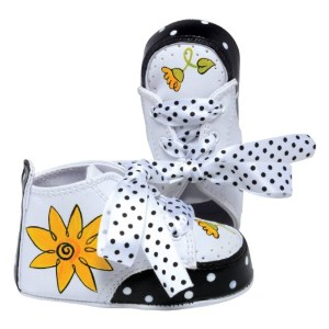 Lil Tootsies Hand-Painted Baby Shoes, Daisy, 3 - 6 Months by Lil' Tootsies