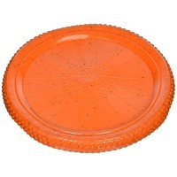 Cycle Dog Flat Tire Flyer-Flying Disc Interactive Durable Dog Toy Orange Large