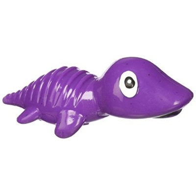 Cycle Dog 3 Play Mini Dino Squeaking Play Head Float Dog Treat Toy Purple Small