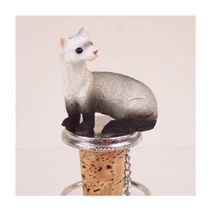 Hand Painted Ferret Bottle Stopper ATB56 by Conversation Concepts