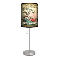 Vintage Labels - Sakura Sport Silver Lamp by Lamp-In-A-Box