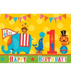 Fisher Price 1st Birthday Tablecover - 1.3m X 2.4m