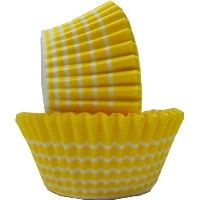 Regency Wraps Greaseproof Baking Cups, Yellow Circle, 40-Count, Standard. by Regency Wraps