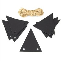 Black Chalkboard Tags Triangle, 2-1/4-inch, 20-pack by Firefly Imports