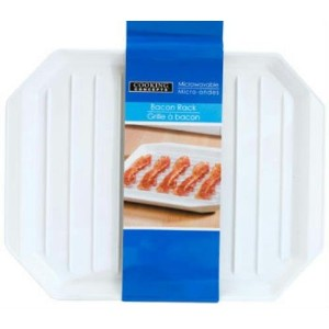 Cooking Concepts Microwavable Bacon Rack Dishwasher Safe Plate by Cooking Concepts