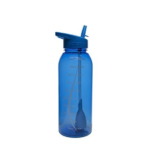 Blue - 34oz Refresh2go Milestone Filtered Water Bottle by Refresh2go