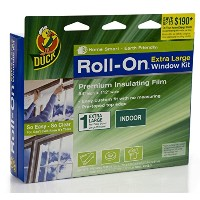 Duck Brand 281069 Roll-On Indoor Extra Large Window/Patio Door Premium Insulating Film Kit, 84-Inch...