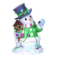 Precious Moments Company Snowman with String of Lights LED Figurine [並行輸入品]