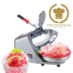 Koval Inc. Heavy Duty, Stainless Steel Ice Shaver, Snow Cone Machine, Electric Shaved Ice Machine ...