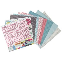 "Capture Life Cardstock Stickers 12""X12""-Element (並行輸入品)"